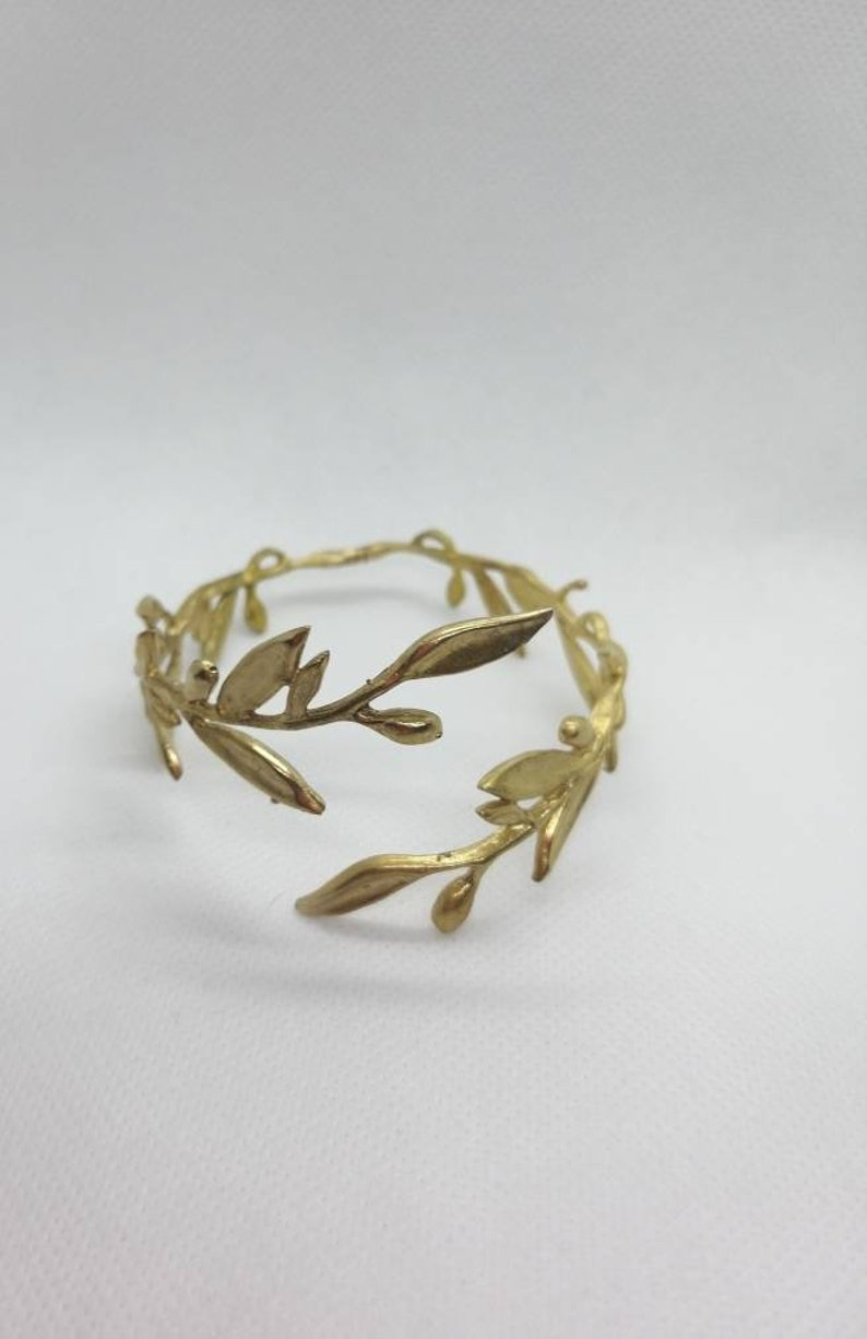 olive leaf Handmade bronze bracelet olive leaf bracelet ancient Greek ancient Greek bracelet