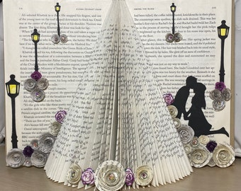 A Spring Romance - Silhouette Folded Book Art Sculpture