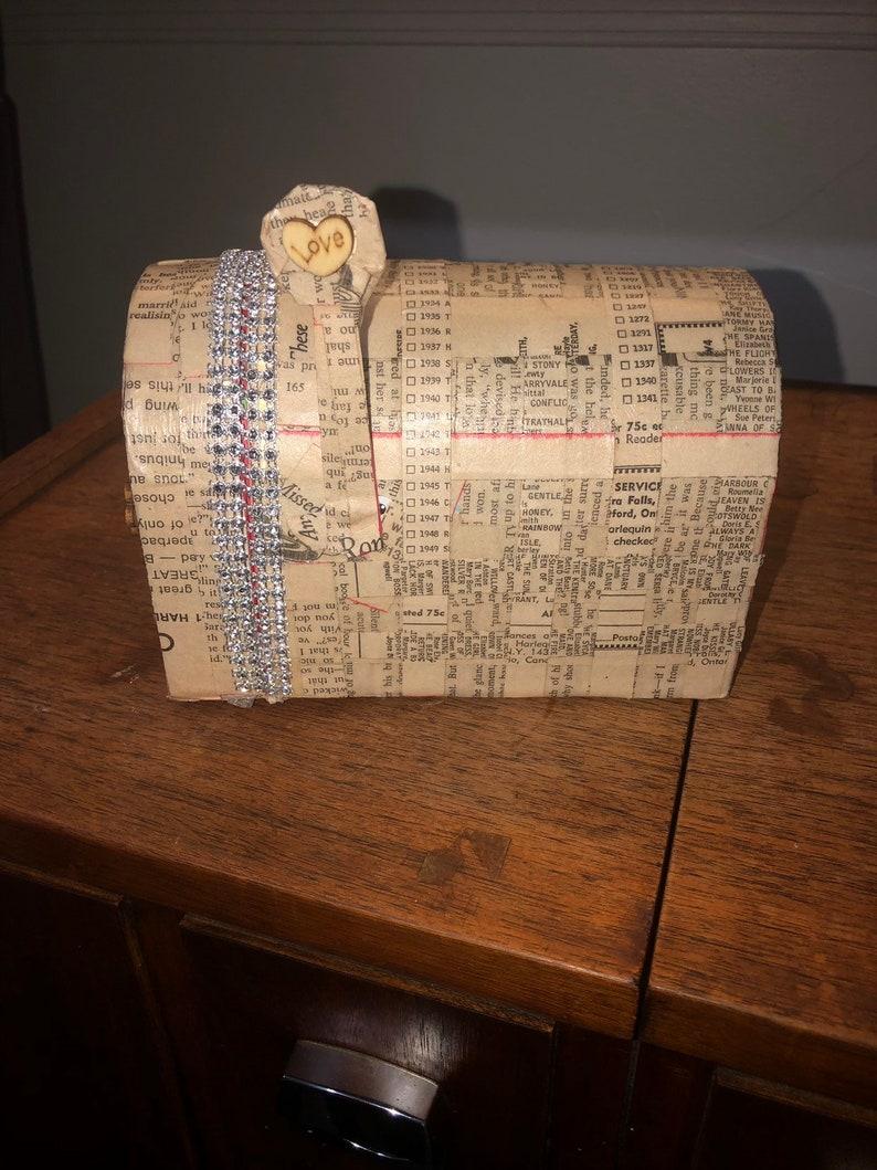Miniature Mailbox Book Art Sculpture