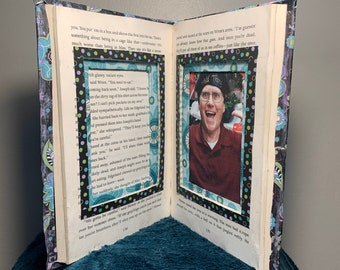 Picture Frame Altered Book- Folded Book Art Sculpture
