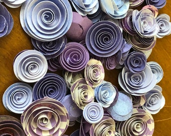 Purple Craze - Paper Flower Roses for Weddings, Baby Showers, Parties, Home Decor and more!