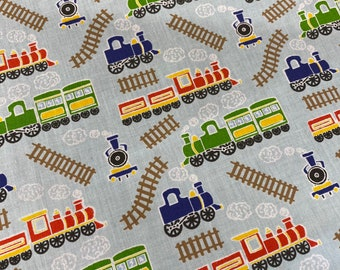 Train Track Fabric Etsy
