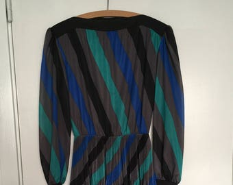 70s-80s dress with pleated skirt
