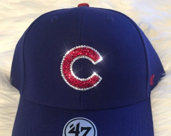 Chicago Cubs Hat Made with SWAROVSKI® Crystals 1aff9082670