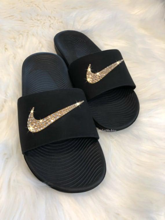 Swarovski Nike KAWA Slides Women Made