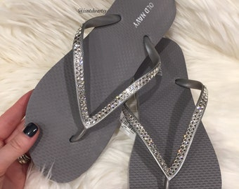 Flip Flops/Sandals with 100% Authentic SWAROVSKI® Crystals