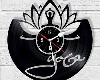 Yoga record wall clock unique gift and wonderful home decor