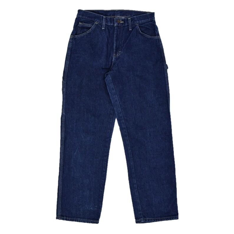 Vintage Dickies Workwear Blue Denim Work Pants Utility Trousers 30 W 30 L