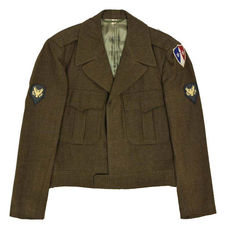 Vintage 50s US Army Eisenhower /'Ike/' Military Field Jacket 38R Small