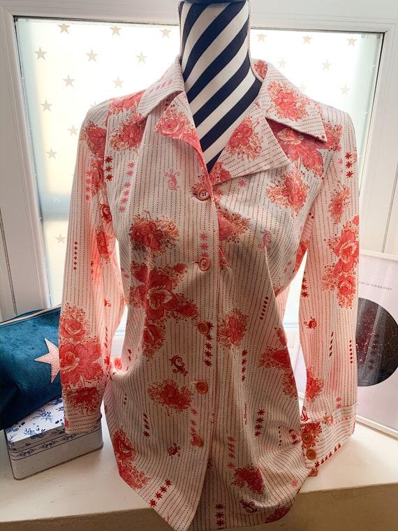 70's Blouse Shirt Vintage Japanese 70's Vintage pa