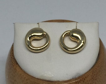 vintage Tiffany & Co. Elsa Peretta 18k yellow gold eternal circle earrings