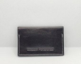 Leather card holder, foldable model