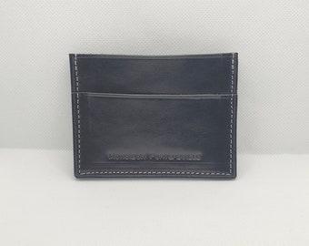 Leather card holder, horizontal model