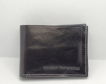 Leather wallet, model for Canadian and American banknotes