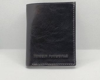 Leather wallet, model Essentials
