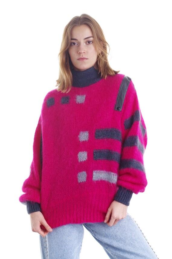 Vintage 80s Super Kid Mohair Sweater Pullover Jum… - image 1