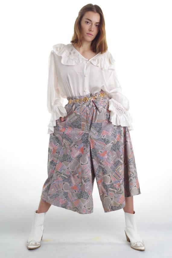 Vintage Leather Pastel Culottes