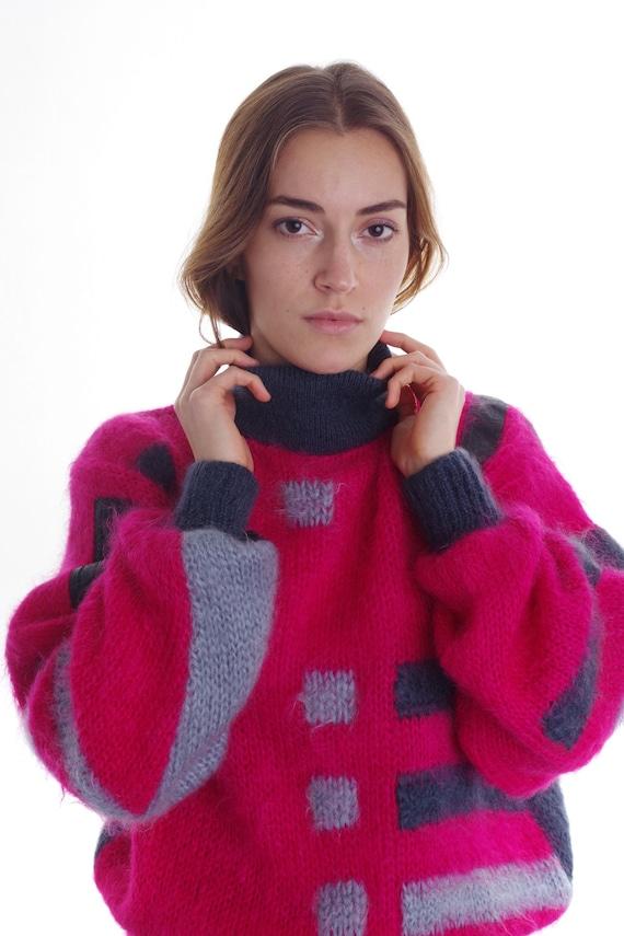 Vintage 80s Super Kid Mohair Sweater Pullover Jum… - image 3