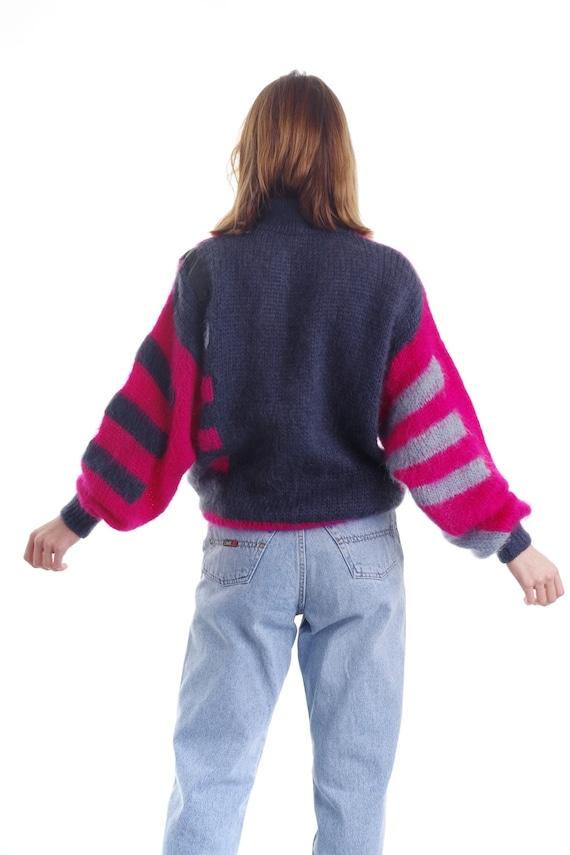 Vintage 80s Super Kid Mohair Sweater Pullover Jum… - image 2