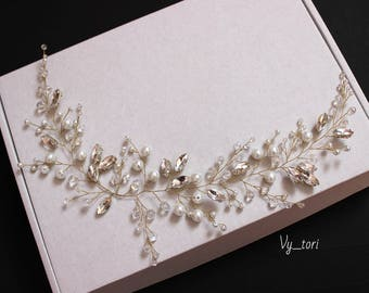 Wedding hair accessories Crystals Hair Vine Wedding Headpiece Bridal hair vine Bridal hair accessories