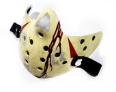 Friday The 13th Jason Voorhees Mask Part 4 The final chapter ultra real blood effect, Half Hockey Protective washable antifluid mask Covid19