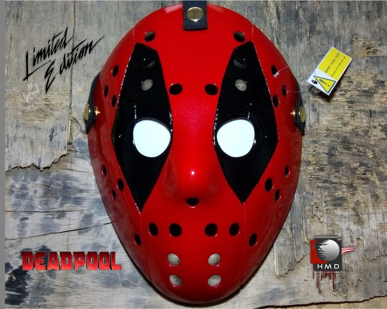 Mask Hockey Jason Voorhees Friday the 13 Version DeadPool buttons Gold  Edition Exclusive 2019
