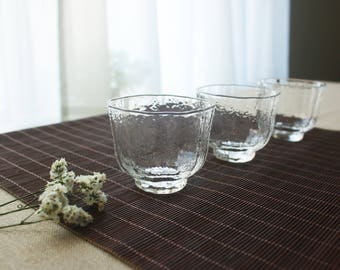 Hammered Glass Cups (Set of Two)