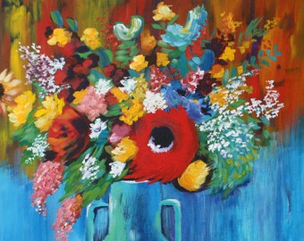 Colorful Bouquet in Vase