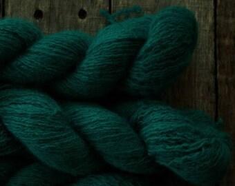 Teal Wool & Angora Blend Recycled Yarn