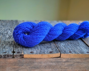 Electric Blue 100% Cashmere Recycled Yarn