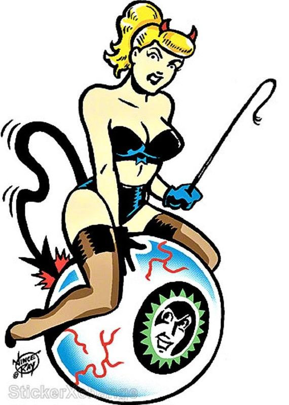 Blond On Eyeball Sticker Decal Artist Vince Ray VR7
