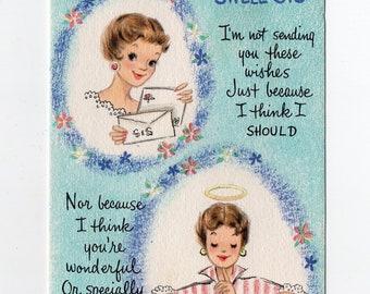 Vintage Skunk Sister Birthday Card Multi Page Hallmark Etsy