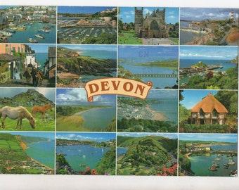 Vintage Devon England Postcard | Devonshire United Kingdom UK  | Paper Ephemera