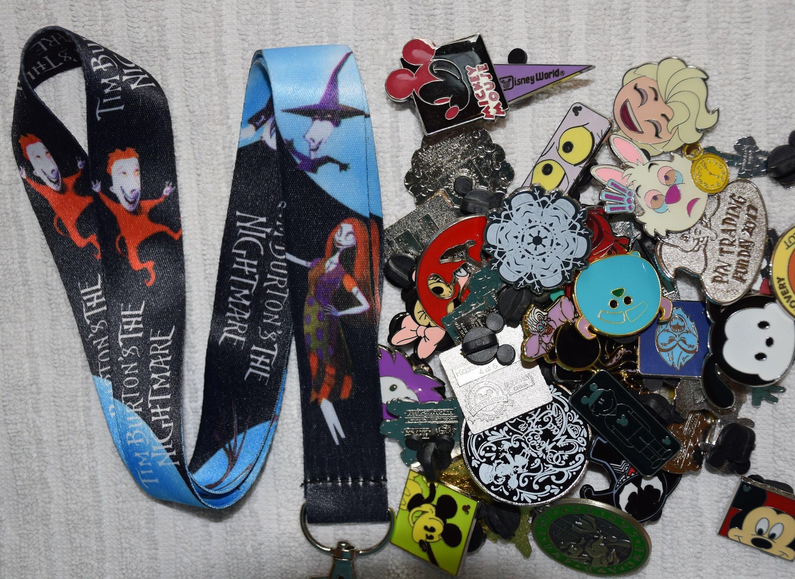 50 pin lot NEW JACK SALLY Pink Purple Disney pin trading Starter Set Lanyard
