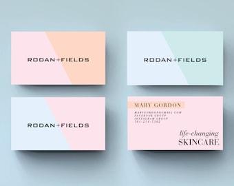 Rodan and fields business cards etsy printable rodan and fields business cards business cards bundle colourmoves