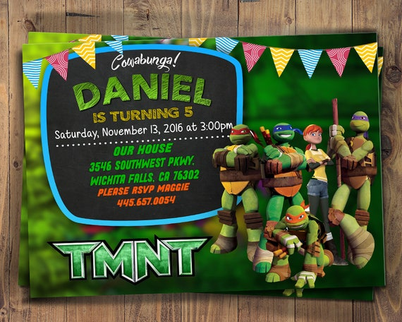 image about Ninja Turtles Invitations Printable titled Ninja Turtles Invitation, Ninja Turtles Bash, TMNT Invitation, Teenage Mutant Ninja Turtles, Invites, TMNT Celebration,