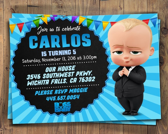 Boss Baby Invites Boss Baby Printables Boss Baby Printable Etsy