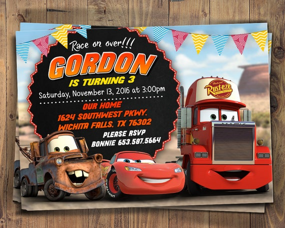 Cars Invitation with photo Lightning McQueen Mater Sally | Etsy on golf girls, golf handicap, golf accessories, golf tools, golf cartoons, golf trolley, golf machine, golf words, golf players, golf hitting nets, golf buggy, golf games, golf card,