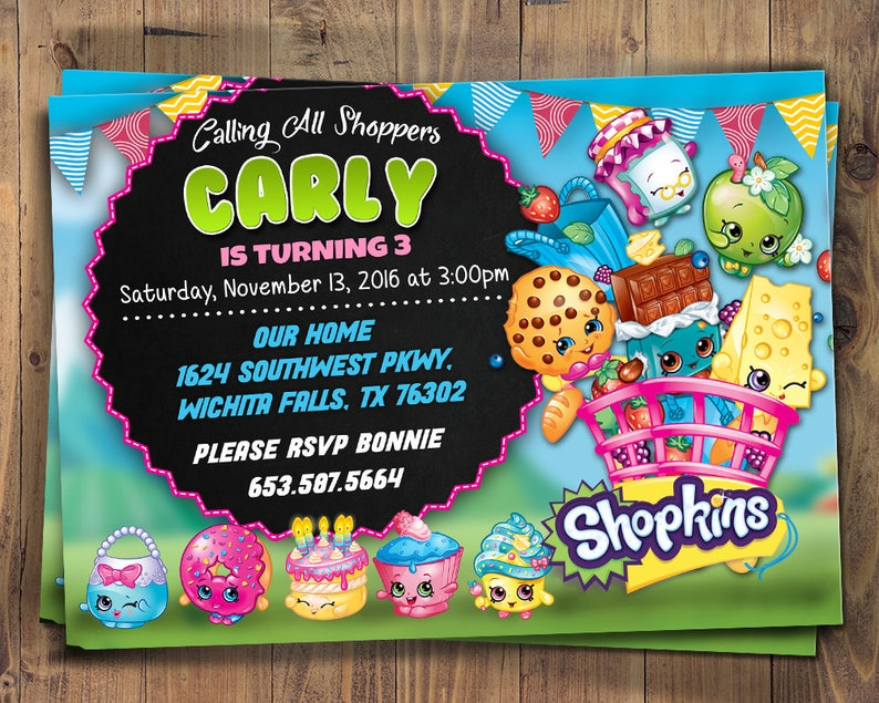 photograph about Shopkins Printable Invitations named Shopkins birthday invitation, Shopkins social gathering, shopkins printable invite, Shopkins invitation