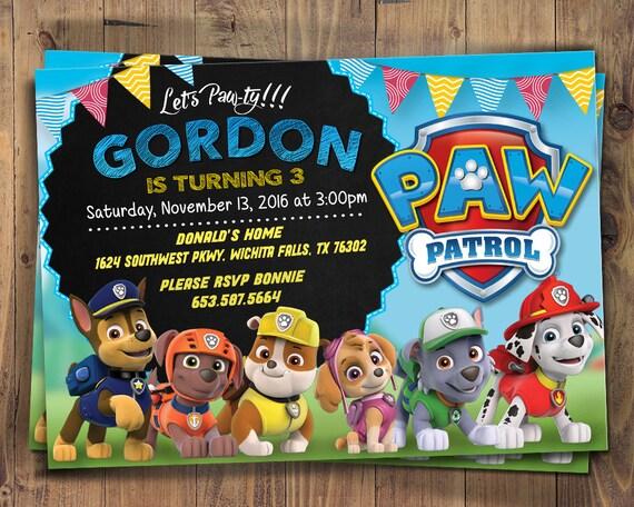 vorlage paw patrol einladungskarten zum ausdrucken deutsch