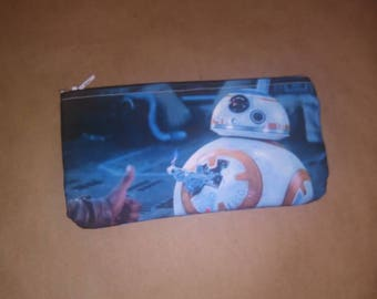 Star wars the force awakens bb8 thumbs up droid coin purse wallet small make up bag
