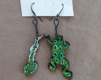 Frog Life Cycle Earrings