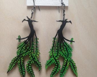 Maidenhair Fern Earrings