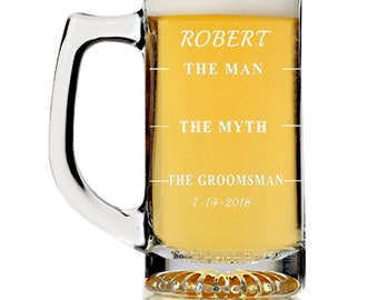 BEER STEIN PERSONALIZED wedding favors Aunt of the groom and Uncle of the groom Matron of honor or Best Uncle gift custom beer mug tankard