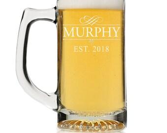 3bb79bd0fed Custom Engraved Personalized Beer Mug Glass