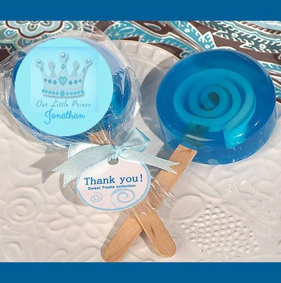 Scented Blue Lollipop Soap Favors New Baby Party Favor Personalized Little Man Baby Shower Soap Favor Christening Soap favor