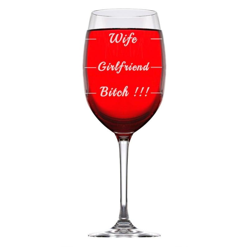 Funny Wine Glass Wife Christmas Gift Boy Friend and Girlfriend Wine Glass Gift,Christmas Gift Secret Santa Christmas Gift Stocking Stuffer