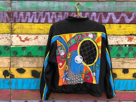 90s dreamy neon tennis jacket