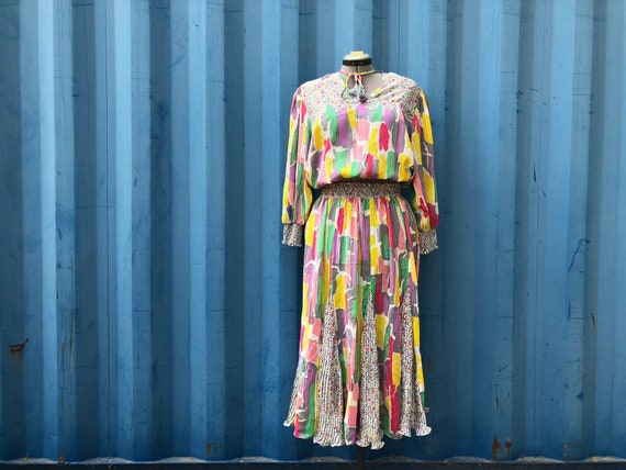 PLUS- 1980s Diane Freis two piece set