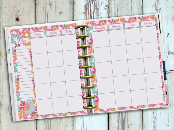 image about Happy Planner Printable Calendar Pages identify Delighted Planner Printables - CraftySewPop